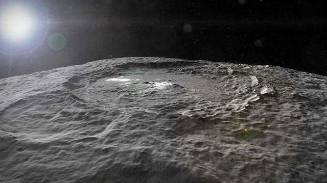 3D视频真实呈现谷神星巨大陨坑和亮斑结构