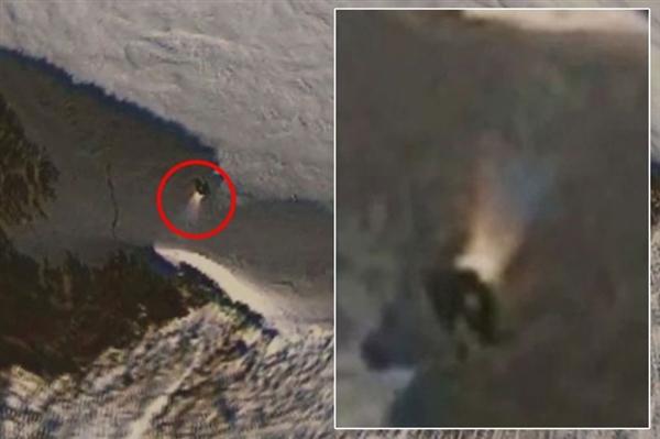 google地图发现南极神秘物体