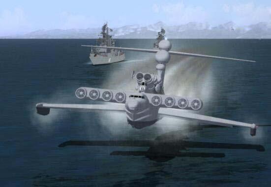里海怪物,全球仅2艘的地效飞行器