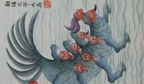 水伯天吴真实样貌之谜,吴人始祖画像揭晓(半兽人神仙)