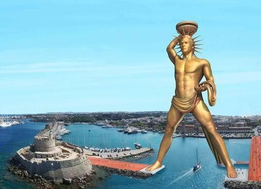 希腊罗得岛太阳神雕像